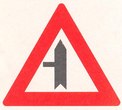 Voorrangskruispunt Zijweg links