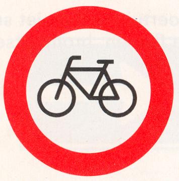 Gesloten voor fietsen en voor gehandicaptenvoertuigen zonder motor