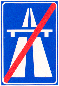 Einde Autosnelweg