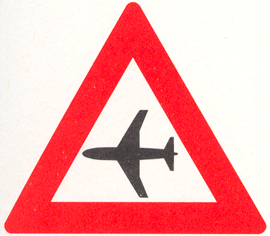 Let op: Laagvliegende vliegtuigen